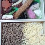 鶏めし えび寿屋 - 2段鶏そぼろ弁当880円