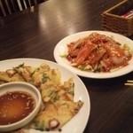 韓国厨房 尚州本店 - 海鮮チヂミ と イカのカフェ?だったかな…