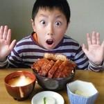 37968817 - ソースカツ丼(ロース)大盛り無料