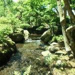 遊季庭かわ嶋 - お店の前を小川が流れています
