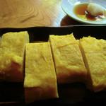 遊季庭かわ嶋 - 久し振りに「だしまき500円       」をお願いしてみました まさに蕎麦屋のだしまきで美味しい