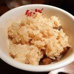 熊祥 - ランチサービスの炊き込みご飯!美味し!