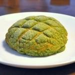 ちのパン - 抹茶メロンパン¥140
