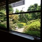 37987229 - 大きな窓から見る庭