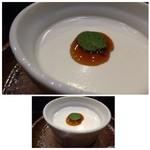 博多割烹 水音 - ◆共通・・デザートは「ごま風味のプリン」