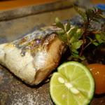 鮨柳屋 - 鰆のカマ塩焼き