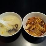 37996169 - 中華風玉子スープとミニ麻婆豆腐