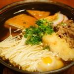 にしかわ - なべ焼きうどん (1,600円)