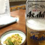 今池呑助飯店 - ビールには漬物がサービス♬
