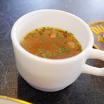 38003340 - 週末デリプレート(1150円)のスープ。とても美味しい。