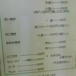 38004024 - 150423群馬 清水屋本店 メニュー