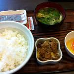 なか卯 - 料理写真:こだわり卵朝定食+牛小鉢