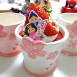 プレヴェール - ひなまつりプリン:480円:陶器の器、三年分~♪(2015.03月)