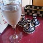 モロッコ タジンや - 20150516  お水と薬味セット(3連タジン入り)