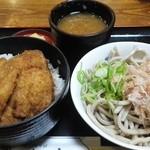 38013362 - 『かつ丼セット』1100円 H27.5.15撮影
