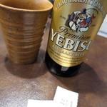175°DENO担担麺 - エビス小瓶_400円