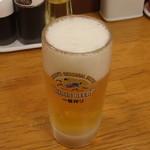 リンガーハット - 生ビール(中ジョッキ)