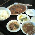 栄蘭 - 角煮定食全体像