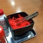 船場ラーメン - 紅生姜