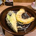 38022463 - 2015.5 天ぷら定食 カボチャ、ナス。