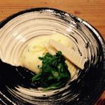 分田上 - グリーピース、淡竹、卵蒸し