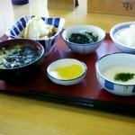 まいどおおきに食堂 厚別東食堂 - セルフで和食~。季節のお味噌汁が、おいしかったです