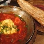 キャラヴァンサライ包 - シシトウとトマト、卵のカラヒィはナンと一緒にスッキリ満腹!