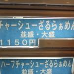 らぁめん ほりうち - チャーシューざるらぁめん(2015.03)