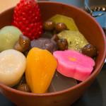 FUMUROYA CAFE - 生麩入りあんみつ