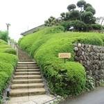 旬の野菜レストラン 農悠舎王隠堂 - この石段を上がります