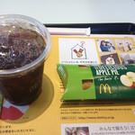 マクドナルド - 料理写真:アップルパイとアイスコーヒーで200円