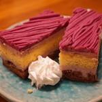 布袋家 - 手作りデザートより紫芋のモンブラン(450円)