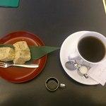 銀座 風月堂 - わらびもちとコーヒーセット