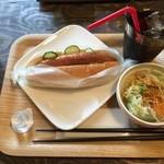 深山のカフェ食堂 - 「ホットドッグセット」