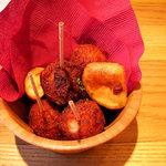 カフェ ゼノン - 2010/04/30撮影。サツマイモと大豆のころころコロッケ 480円