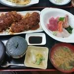 月日亭 - 料理写真:チキンカツ定食 700円