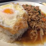 38041563 - 鶏肉のバジル炒めセット(アップ)