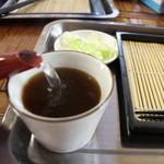 麺道楽のばら - 蕎麦湯