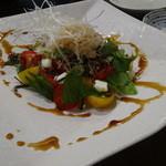 ちゃ味道楽 - ミニトマトとモッツァレラのサラダ