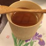 湯郷温泉 かつらぎ - 夕食デザート(黒豆きなこのブランマンジェ)