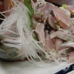栄家 - 鯵のたたき定食 2015.5