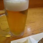 海鮮料理 居酒屋 六文銭 - 生ビールで乾杯
