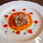 手打ち蕎麦とフレンチの やな木 - 前菜(鴨・豚ゼリー寄せ) 2015年5月