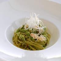 代官山ASO チェレステ - 蟹とドライトマト入りブロッコリーソース スパゲッティ