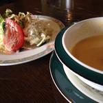 Dulce - 料理写真:セットのサラダとスープ