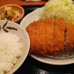 とんかつ まさむね - ランチ 上ロースかつ定食(1480円)