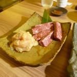 すきやきしゃぶしゃぶ 神戸牛石田 - 追加で上ミノ、和牛ハラミ