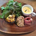 ベビーリーフ - 前菜3種&サラダ&スープ