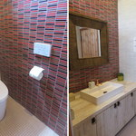 スワンタイル カフェ - スワンタイルカフェのトイレはオシャレなタイル張りです。2015年5月17日撮影