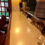 キッチンすもり - 先客なし、カウンターに座ります